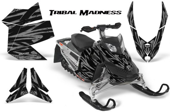Skidoo REV XP CreatorX Graphics Kit Tribal Madness Silver 570x376 - Ski-Doo Rev XP Graphics