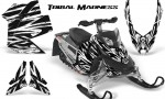 Skidoo REV XP CreatorX Graphics Kit Tribal Madness White 150x90 - Ski-Doo Rev XP Graphics