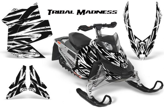Skidoo REV XP CreatorX Graphics Kit Tribal Madness White 570x376 - Ski-Doo Rev XP Graphics