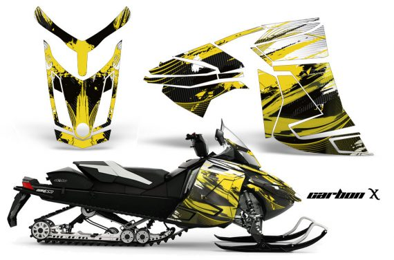 Skidoo Rev XR AMR Graphics Kit Wrap Decal CX Y 570x376 - Ski-Doo Can-Am Rev XR Graphics Kit