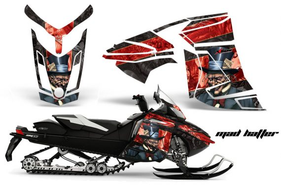 Skidoo Rev XR AMR Graphics Kit Wrap Decal Mad Hatter K R 570x376 - Ski-Doo Can-Am Rev XR Graphics Kit