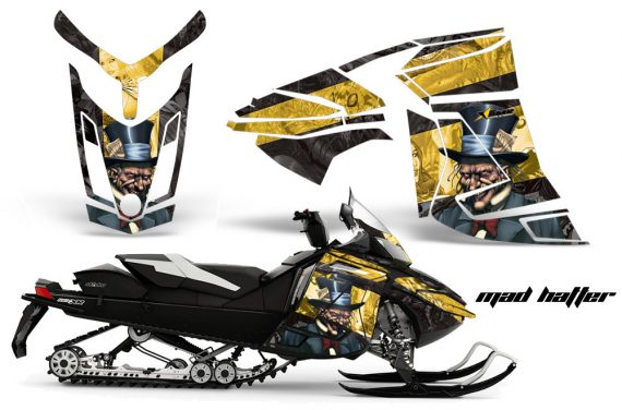 Skidoo Rev XR AMR Graphics Kit Wrap Decal Mad Hatter K Y 570x376 - Ski-Doo Can-Am Rev XR Graphics Kit