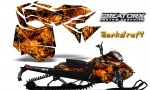 Skidoo RevXM CreatorX Graphics Kit Backdraft Orange 150x90 - Ski-Doo Can-Am Rev XM 2013-2017 Graphics