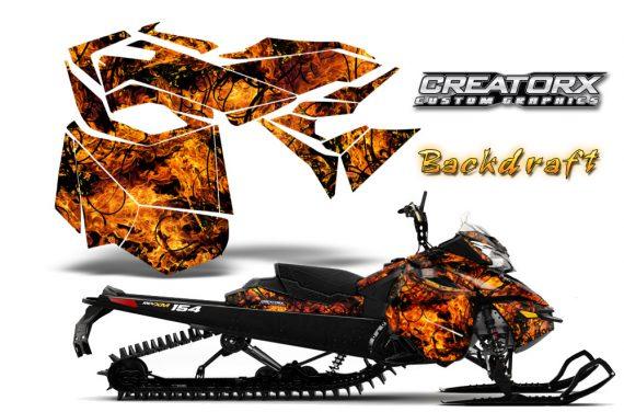 Skidoo RevXM CreatorX Graphics Kit Backdraft Orange 570x376 - Ski-Doo Can-Am Rev XM 2013-2017 Graphics