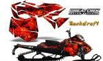 Skidoo RevXM CreatorX Graphics Kit Backdraft Red 150x90 - Ski-Doo Can-Am Rev XM 2013-2017 Graphics