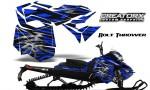 Skidoo RevXM CreatorX Graphics Kit Bolt Thrower Blue BB 150x90 - Ski-Doo Can-Am Rev XM 2013-2017 Graphics