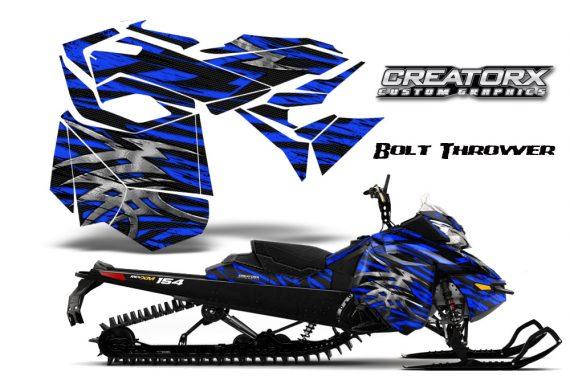 Skidoo RevXM CreatorX Graphics Kit Bolt Thrower Blue BB 570x376 - Ski-Doo Can-Am Rev XM 2013-2017 Graphics