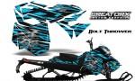 Skidoo RevXM CreatorX Graphics Kit Bolt Thrower BlueIce BB 150x90 - Ski-Doo Can-Am Rev XM 2013-2017 Graphics