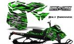 Skidoo RevXM CreatorX Graphics Kit Bolt Thrower Green BB 150x90 - Ski-Doo Can-Am Rev XM 2013-2017 Graphics