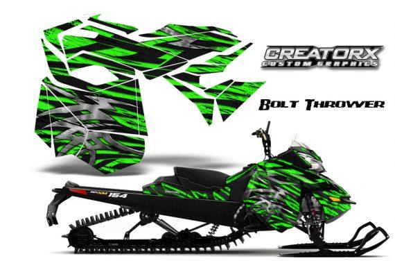 Skidoo RevXM CreatorX Graphics Kit Bolt Thrower Green BB 570x376 - Ski-Doo Can-Am Rev XM 2013-2017 Graphics