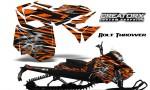 Skidoo RevXM CreatorX Graphics Kit Bolt Thrower Orange BB 150x90 - Ski-Doo Can-Am Rev XM 2013-2017 Graphics
