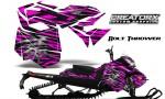 Skidoo RevXM CreatorX Graphics Kit Bolt Thrower Pink BB 150x90 - Ski-Doo Can-Am Rev XM 2013-2017 Graphics