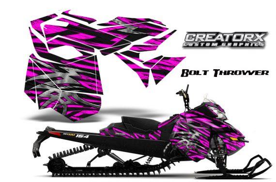 Skidoo RevXM CreatorX Graphics Kit Bolt Thrower Pink BB 570x376 - Ski-Doo Can-Am Rev XM 2013-2017 Graphics