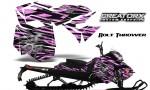 Skidoo RevXM CreatorX Graphics Kit Bolt Thrower PinkLite BB 150x90 - Ski-Doo Can-Am Rev XM 2013-2017 Graphics