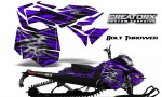 Skidoo RevXM CreatorX Graphics Kit Bolt Thrower Purple BB 150x90 - Ski-Doo Can-Am Rev XM 2013-2017 Graphics