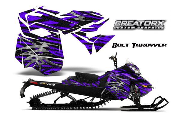 Skidoo RevXM CreatorX Graphics Kit Bolt Thrower Purple BB 570x376 - Ski-Doo Can-Am Rev XM 2013-2017 Graphics