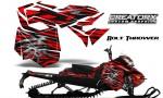 Skidoo RevXM CreatorX Graphics Kit Bolt Thrower Red BB 150x90 - Ski-Doo Can-Am Rev XM 2013-2017 Graphics