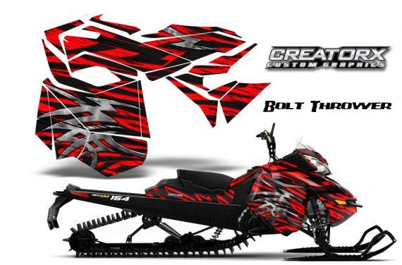 Skidoo RevXM CreatorX Graphics Kit Bolt Thrower Red BB 570x376 - Ski-Doo Can-Am Rev XM 2013-2017 Graphics