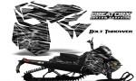Skidoo RevXM CreatorX Graphics Kit Bolt Thrower Silver BB 150x90 - Ski-Doo Can-Am Rev XM 2013-2017 Graphics