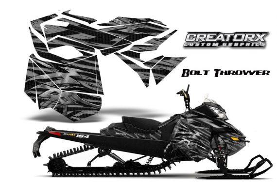 Skidoo RevXM CreatorX Graphics Kit Bolt Thrower Silver BB 570x376 - Ski-Doo Can-Am Rev XM 2013-2017 Graphics
