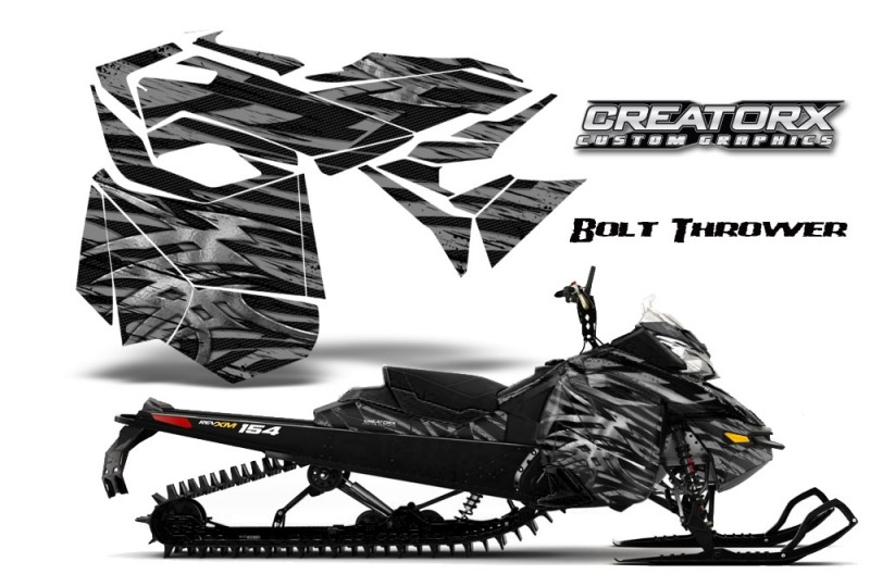 Skidoo-RevXM-CreatorX-Graphics-Kit-Bolt-Thrower-Silver-BB
