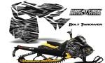 Skidoo RevXM CreatorX Graphics Kit Bolt Thrower Silver YB 150x90 - Ski-Doo Can-Am Rev XM 2013-2017 Graphics