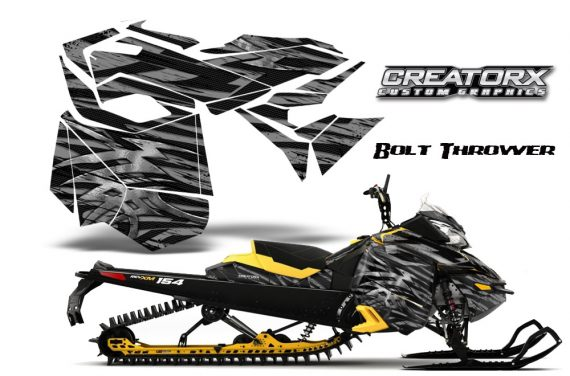 Skidoo RevXM CreatorX Graphics Kit Bolt Thrower Silver YB 570x376 - Ski-Doo Can-Am Rev XM 2013-2017 Graphics