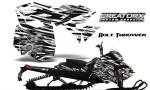 Skidoo RevXM CreatorX Graphics Kit Bolt Thrower White BB 150x90 - Ski-Doo Can-Am Rev XM 2013-2017 Graphics