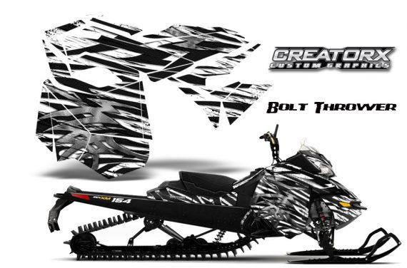 Skidoo RevXM CreatorX Graphics Kit Bolt Thrower White BB 570x376 - Ski-Doo Can-Am Rev XM 2013-2017 Graphics