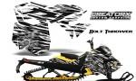 Skidoo RevXM CreatorX Graphics Kit Bolt Thrower White YB 150x90 - Ski-Doo Can-Am Rev XM 2013-2017 Graphics