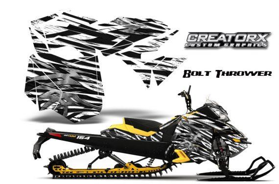Skidoo RevXM CreatorX Graphics Kit Bolt Thrower White YB 570x376 - Ski-Doo Can-Am Rev XM 2013-2017 Graphics