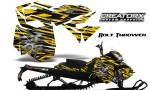Skidoo RevXM CreatorX Graphics Kit Bolt Thrower Yellow BB 150x90 - Ski-Doo Can-Am Rev XM 2013-2017 Graphics