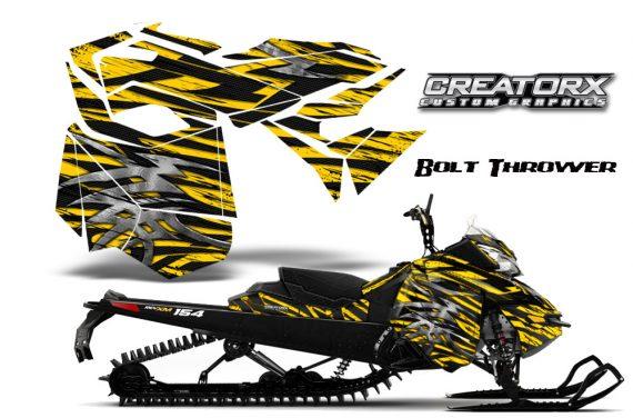 Skidoo RevXM CreatorX Graphics Kit Bolt Thrower Yellow BB 570x376 - Ski-Doo Can-Am Rev XM 2013-2017 Graphics