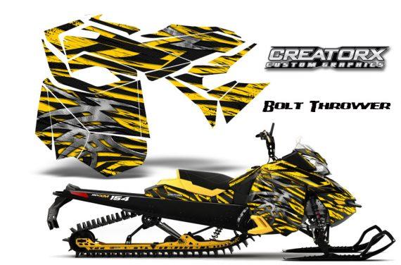 Skidoo RevXM CreatorX Graphics Kit Bolt Thrower Yellow YB 570x376 - Ski-Doo Can-Am Rev XM 2013-2017 Graphics
