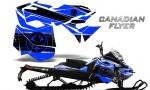 Skidoo RevXM CreatorX Graphics Kit Canadian Flyer Black Blue 150x90 - Ski-Doo Can-Am Rev XM 2013-2017 Graphics