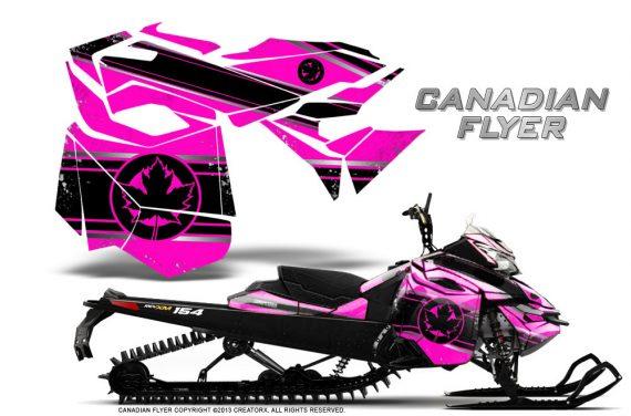 Skidoo RevXM CreatorX Graphics Kit Canadian Flyer Black Pink 570x376 - Ski-Doo Can-Am Rev XM 2013-2017 Graphics