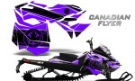 Skidoo RevXM CreatorX Graphics Kit Canadian Flyer Black Purple 150x90 - Ski-Doo Can-Am Rev XM 2013-2017 Graphics