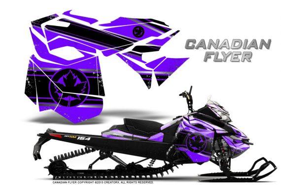 Skidoo RevXM CreatorX Graphics Kit Canadian Flyer Black Purple 570x376 - Ski-Doo Can-Am Rev XM 2013-2017 Graphics