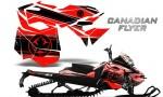 Skidoo RevXM CreatorX Graphics Kit Canadian Flyer Black Red 150x90 - Ski-Doo Can-Am Rev XM 2013-2017 Graphics