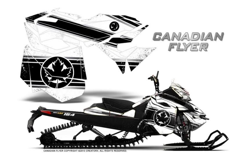 ski doo can am rev xm 2013 2016 graphics 2014 Ski-Doo Summit skidoo revxm creatorx graphics kit canadian flyer black