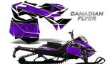 Skidoo RevXM CreatorX Graphics Kit Canadian Flyer Purple Black 150x90 - Ski-Doo Can-Am Rev XM 2013-2017 Graphics