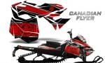 Skidoo RevXM CreatorX Graphics Kit Canadian Flyer Red Black 150x90 - Ski-Doo Can-Am Rev XM 2013-2017 Graphics