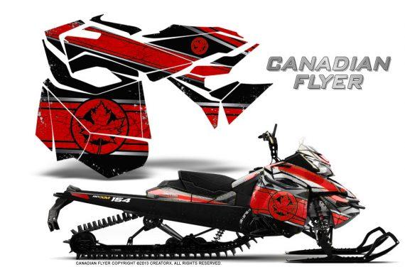 Skidoo RevXM CreatorX Graphics Kit Canadian Flyer Red Black 570x376 - Ski-Doo Can-Am Rev XM 2013-2017 Graphics