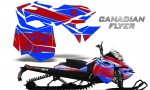 Skidoo RevXM CreatorX Graphics Kit Canadian Flyer Red Blue 150x90 - Ski-Doo Can-Am Rev XM 2013-2017 Graphics