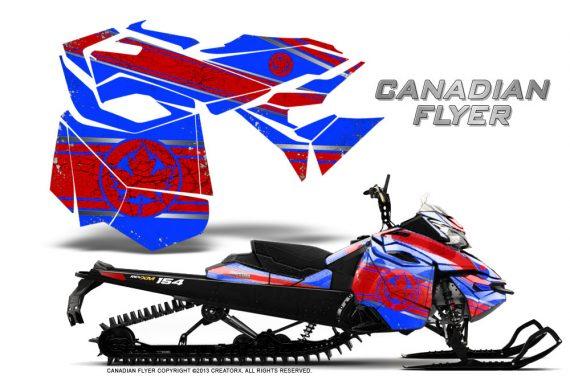 Skidoo RevXM CreatorX Graphics Kit Canadian Flyer Red Blue 570x376 - Ski-Doo Can-Am Rev XM 2013-2017 Graphics
