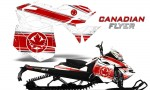 Skidoo RevXM CreatorX Graphics Kit Canadian Flyer Red White 150x90 - Ski-Doo Can-Am Rev XM 2013-2017 Graphics