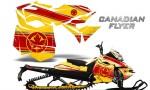 Skidoo RevXM CreatorX Graphics Kit Canadian Flyer Red Yellow 150x90 - Ski-Doo Can-Am Rev XM 2013-2017 Graphics