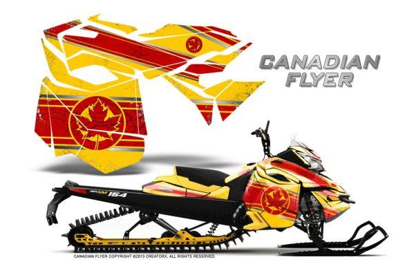 Skidoo RevXM CreatorX Graphics Kit Canadian Flyer Red Yellow 570x376 - Ski-Doo Can-Am Rev XM 2013-2017 Graphics