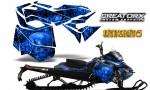 Skidoo RevXM CreatorX Graphics Kit Inferno Blue 150x90 - Ski-Doo Can-Am Rev XM 2013-2017 Graphics