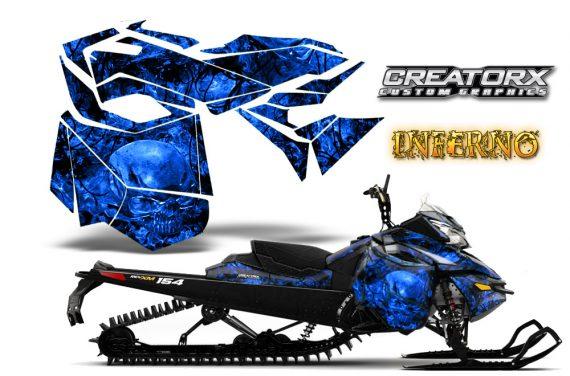 Skidoo RevXM CreatorX Graphics Kit Inferno Blue 570x376 - Ski-Doo Can-Am Rev XM 2013-2017 Graphics